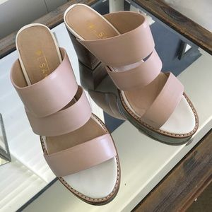 Sol Sana Nude dress sandal with thick heel! 
