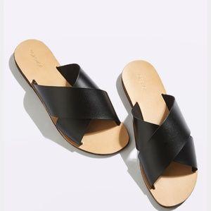 Topshop holiday cross strap sandal size 10
