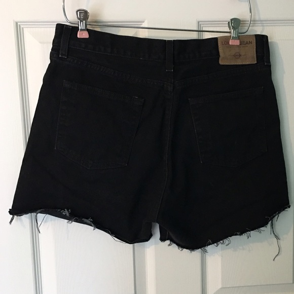 Vintage Shorts - Vintage Black Cutoff Jean Shorts 14 High Waist