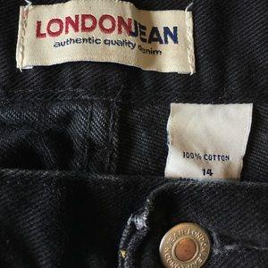 Vintage Shorts - Vintage Black Cutoff Jean Shorts 14 High Waist
