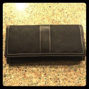 Coach signature black wallet