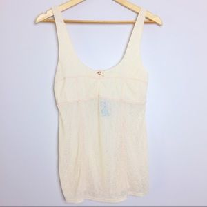 Free People Other - Intimately Free People NWT Pink Ice Sheer Tank Top