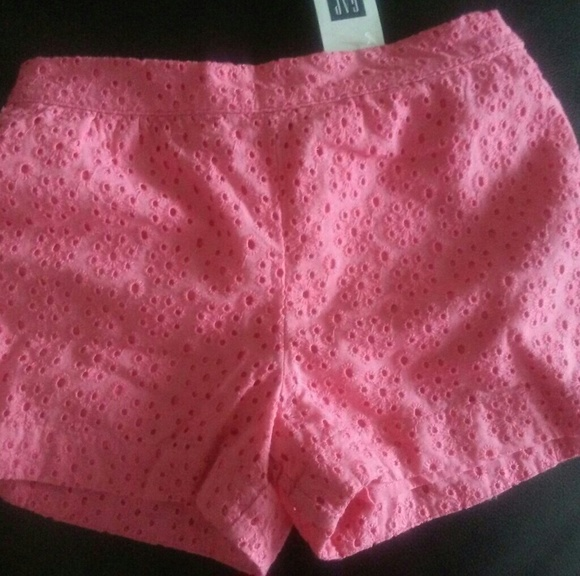 9d8fe5a530368 Gap Bottoms | Baby 5t Skinny Fit Coral Eyelet Shorts | Poshmark
