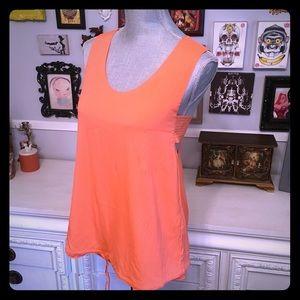 Chloe Tops - NWT Chloe orange silk tank with draw string
