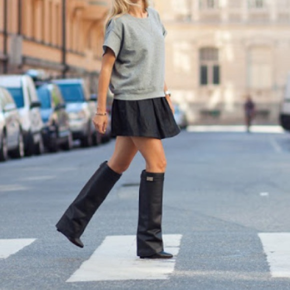 7ebbc9f1bc83 Jessica Buurman Shoes - Jessica Buurman Givenchy Qamra wedge heel boots