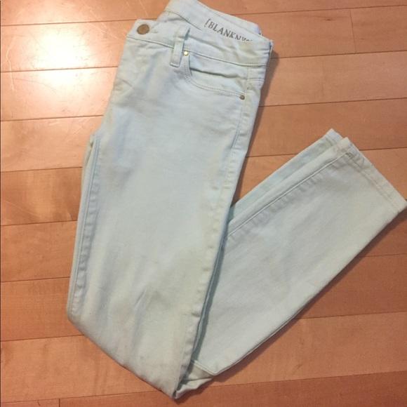 Blank NYC Denim - Mint Green Skinny Jeans