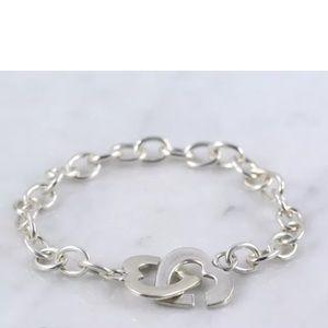 Jewelry - ⚡️SALE⚡️Sterling Silver .925 heart clasp bracelet