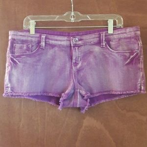 Women's Purple Body Glove Jean Shorts Size Large