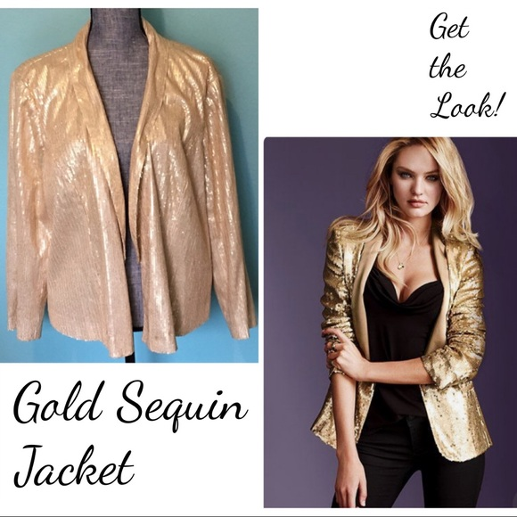 Forever 21 Jackets & Blazers - Gold Sequin Blazer Jacket 3X plus Party formal
