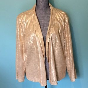 Forever 21 Jackets & Coats - Gold Sequin Blazer Jacket 3X plus Party formal
