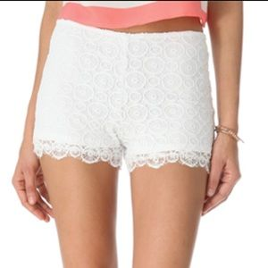 BB Dakota Pants - Floral Lace High Waisted Shorts