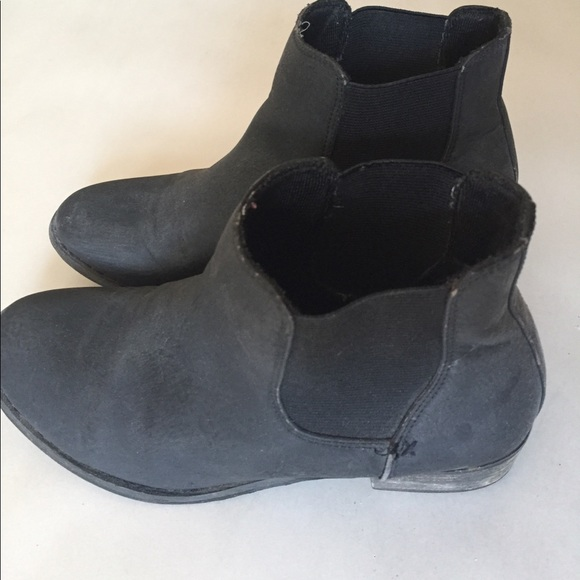 87 madewell shoes black ankle boots slip on booties
