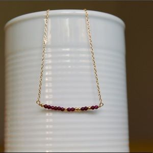 "Jewelry - Code Necklace: ""Feminist"" in Morse Code"