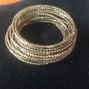 Multi strand coil bracelet
