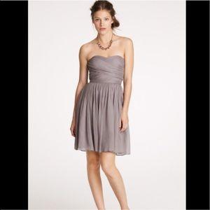 J. Crew Arabella silk chiffon dress