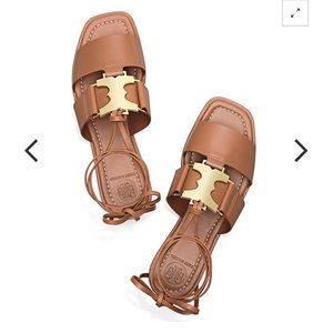 New tory burch Gemini lace up sandals 6 1/2