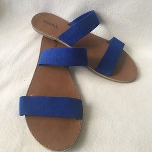 Merona Shoes - Blue Merona Double Strap Sandals