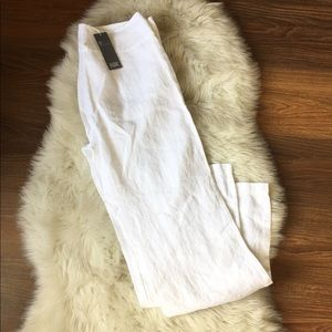 NWT Eileen Fisher White Linen Pants
