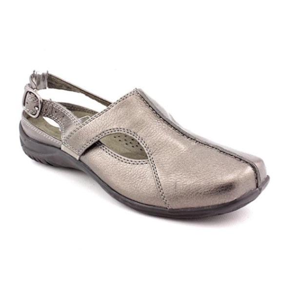 Easy Street Shoes Sportster Slingback Pewter Mule Sandal