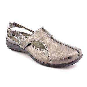 Easy Street Sportster slingback Pewter mule sandal