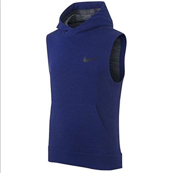 Nike - NIKE Dri-FIT Big Kids' Sleeveless Training Hoodie ...