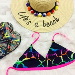 Other - Gorgeous colorful junior bikini top