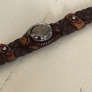 Jewelry - HP!  Woven Leather Bracelet NWOT