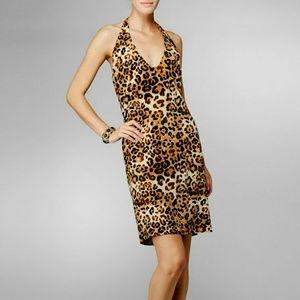 Karen Zambos Dresses & Skirts - Karen Zambos Sexy Leopard Halter Dress