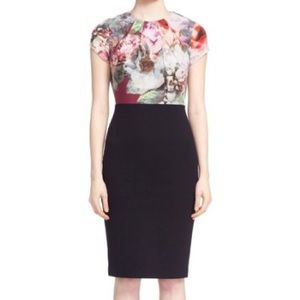 Ted Baker peony print top midi dress-NWT size 8