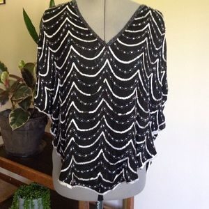 Vintage sequined butterfly top