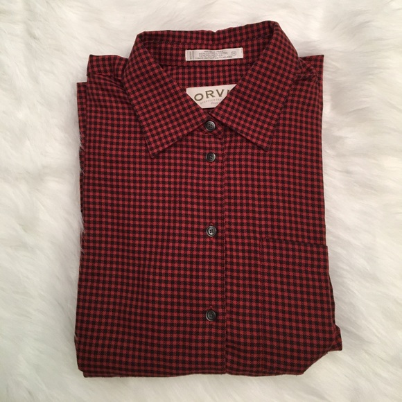 77 off orvis tops orvis button down dress shirt red for Women s button down dress shirts