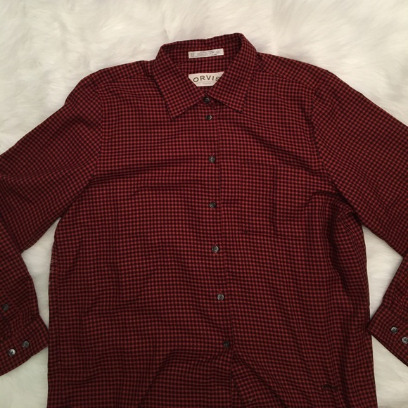 77 Off Orvis Tops Orvis Button Down Dress Shirt Red