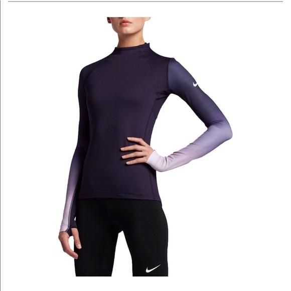 e3b69cb2 Nike Tops | Pro Hyperwarm Fade Printed Top | Poshmark