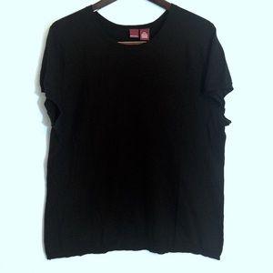 Merona Sweaters - 🆕 MERONA BLACK SILK SHORT SLEEVE SWEATER