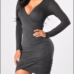 Fashion Nova Dresses & Skirts - Faux Wrap Dress