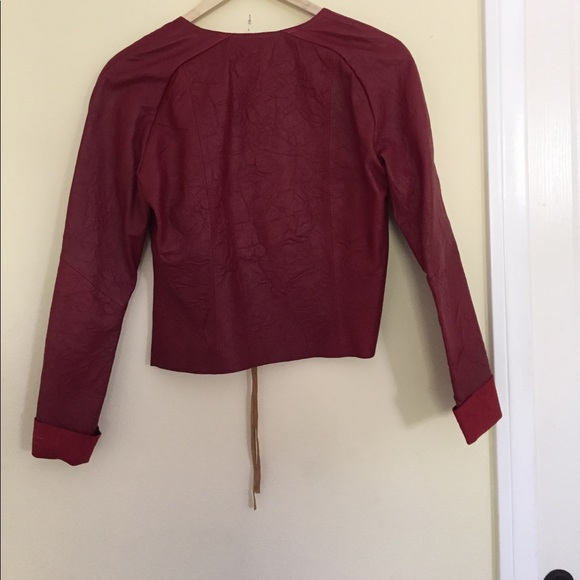 Gap red leather jacket
