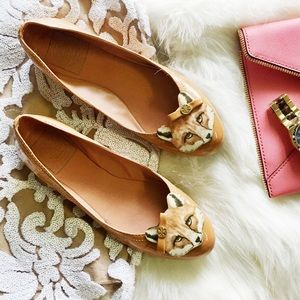 Tory Burch Fox Patent Leather Ballet Flats