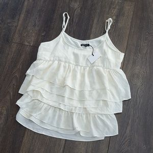who what wear Tops - WHO WHAT WEAR Cream Tiered Tank - Size M