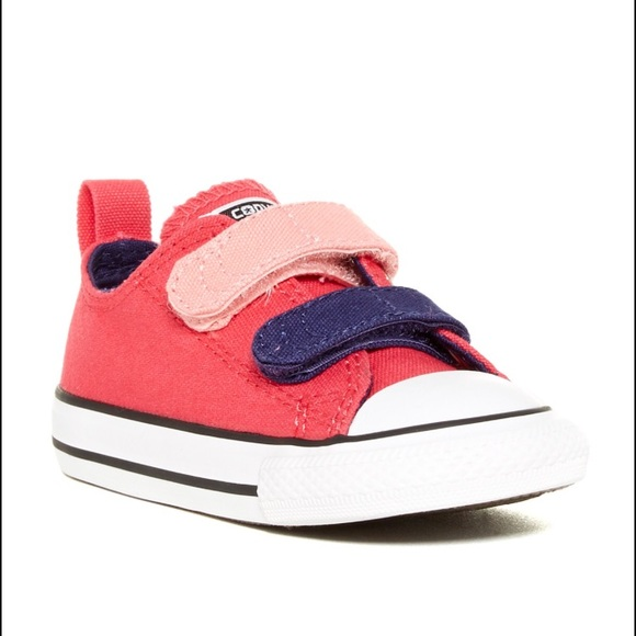 b15b2231e213 Converse Other - Converse Pink Velcro All Stars