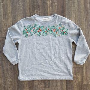 Tops - Xmas Poinsetta Holiday Sweatshirt - size xl