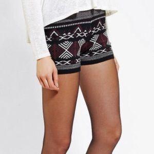 Ecote folkloric knit shorts