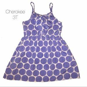 Cherokee Ruffle Blue Dot Dress 3T