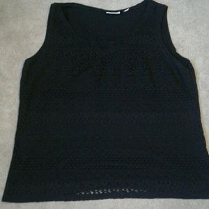 New York & Company Tops - Tank with lace overlay