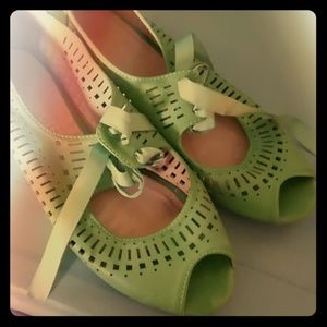Restricted Shoes - Green shoes by Restricted