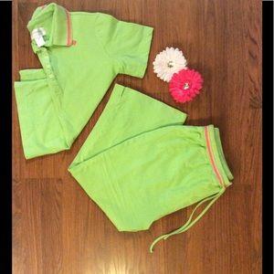 Cabernet Other - Lime green and pink PJ set.  NWOT
