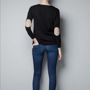 Shoulder patch cardigan