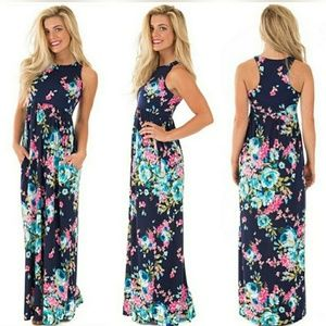 boutique Dresses & Skirts - JUST IN!!! FLORAL MAXI SUMMER DRESS