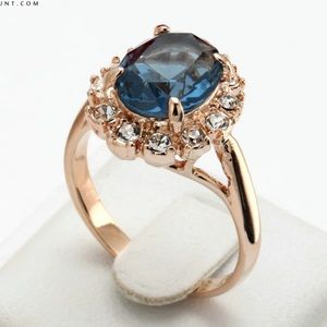 Jewelry - Rose-Blue CZ
