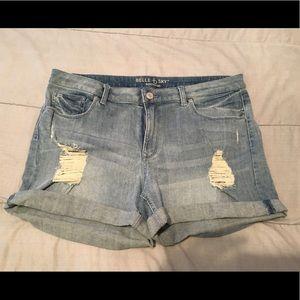 Pants - Denim ripped shorts
