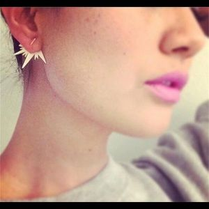Silver Lightning Star Geometric Stud Earrings